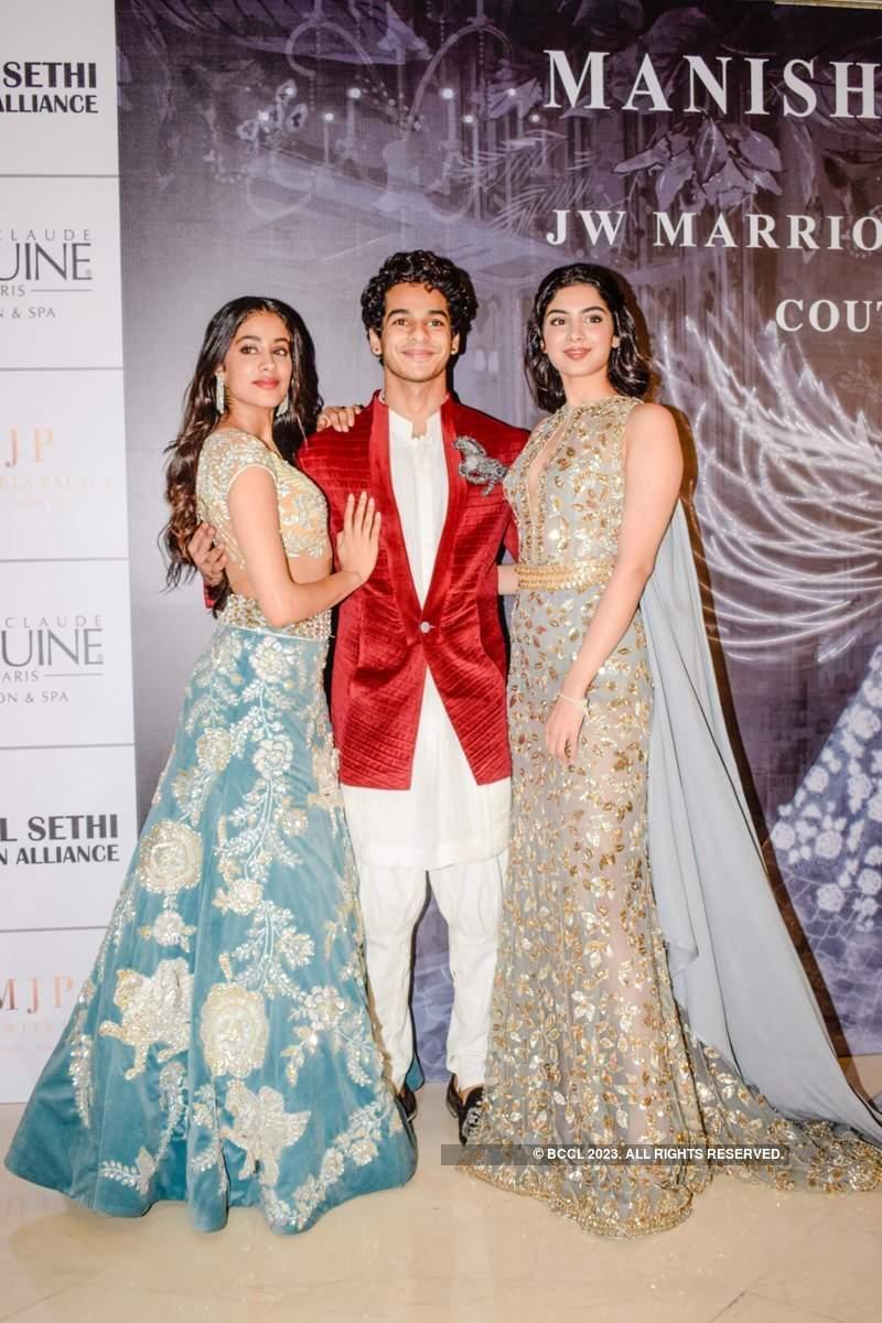Star kids Janhvi, Khushi and Sara shine at Manish Malhotra's couture show