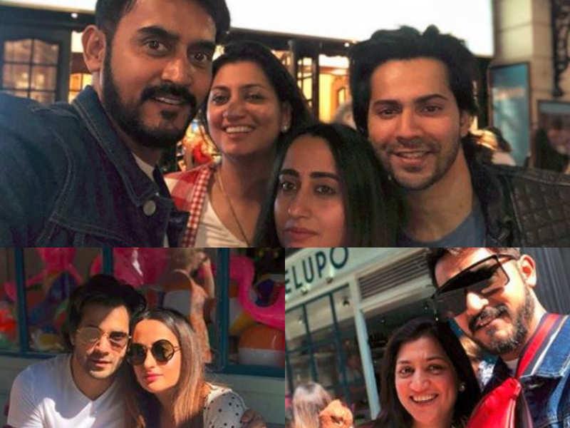 Varun Dhawan And Natasha Dalal Bond With Shashank Khaitan In London