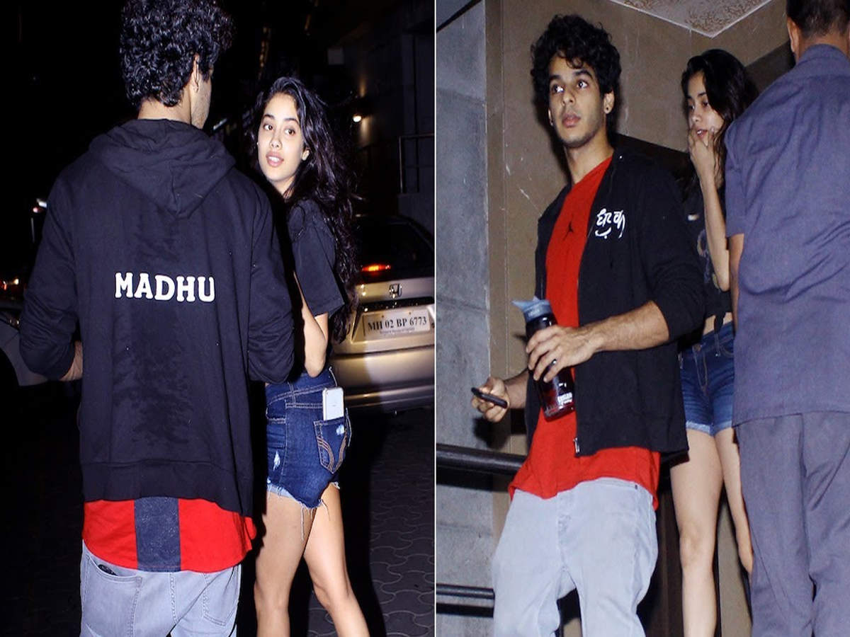 Janhvi Kapoor and Ishaan Khatter step out for a movie date