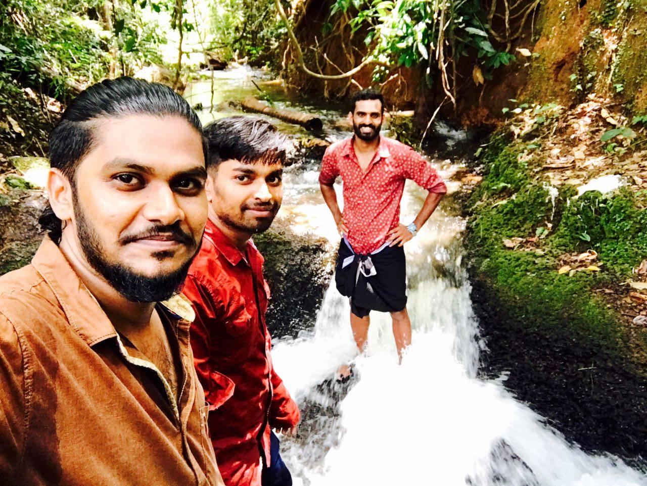 Vineeth with Abhilash Ramachandran and a friend