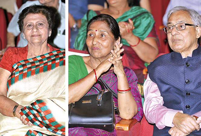 (L) Sanyukta Bhatia (R) Veena Thapliyal and Urmil Kumar Thapliyal (BCCL/ Aditya Yadav)