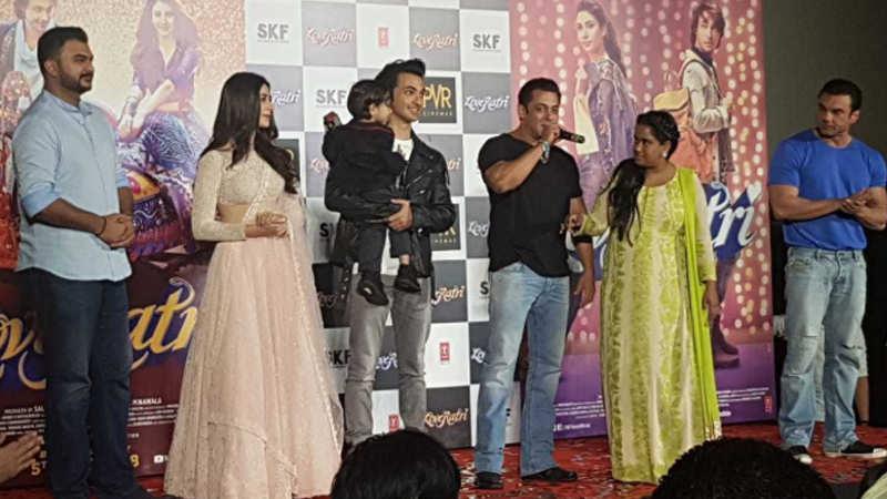 Salman Khan unveils Aayush Sharma's 'Loveratri' trailer
