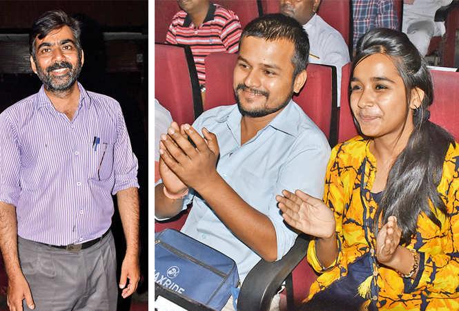 (L) Sanjay Tripathi (R) Nitesh Kumar and Pawni Gupta (BCCL/ Vishnu Jaiswal)