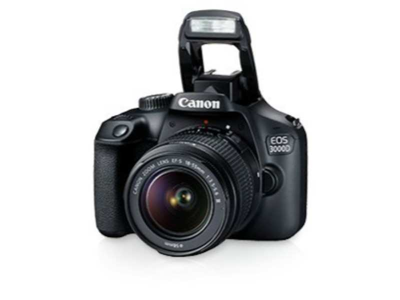 Canon EOS 3000D camera (Black) with 18-55mm IS II Lens, 16GB card and carry case – up to 31% discount