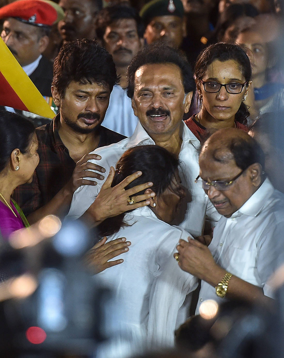 M Karunanidhi's funeral procession draws throngs of followers