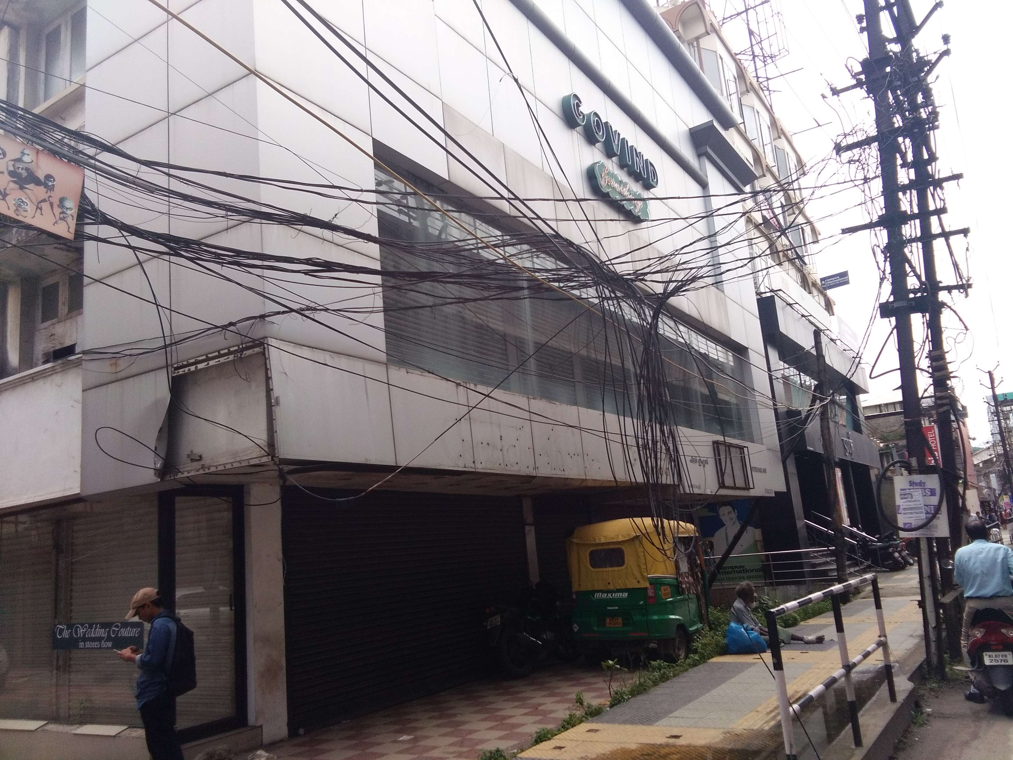 Electrical And Telephone Cables Blocks Public Path Times Of India Wiring Junction Block