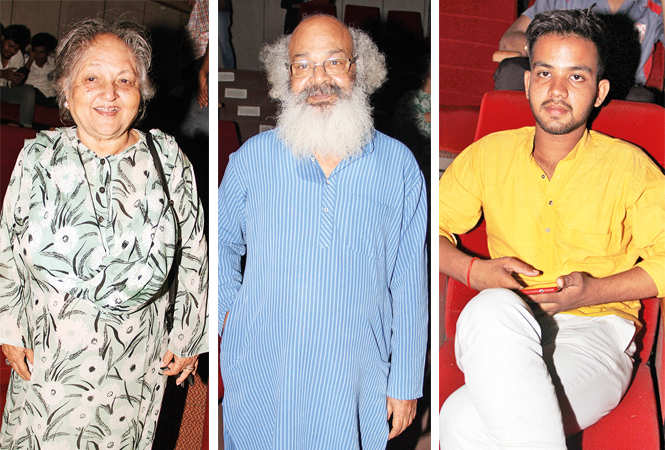 (L) Saida Ahmad (C) Surya Mohan (R) Abhishek Singh (BCCL/ Aditya Yadav)