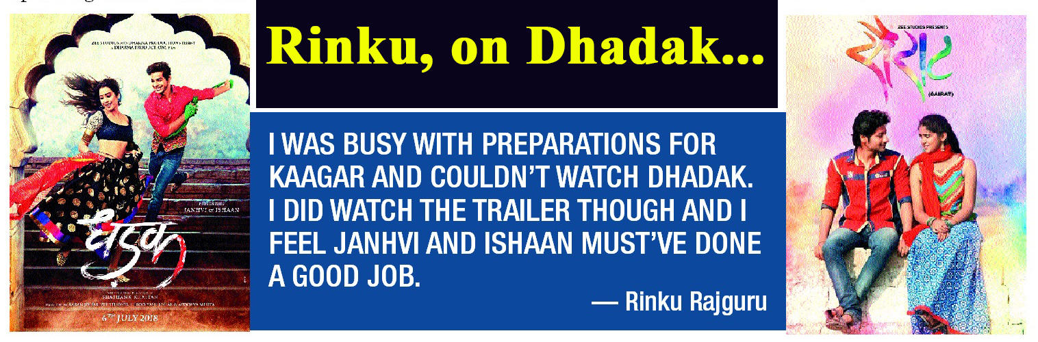 Janhvi and Ishaan must've done a good job in Dhadak, says Rinku Rajguru