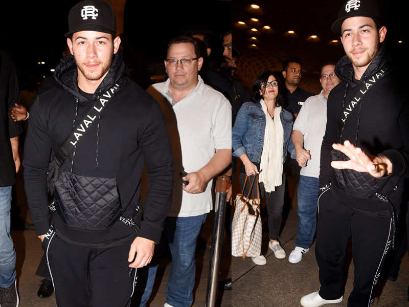 Nick Jonas and parents head back to the US after engagement celebrations with Priyanka Chopra - Priyanka Chopra and Nick Jonas' engagement: Here's everything you need to know  | The Times of India