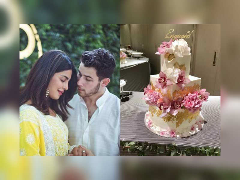 24 Karat Gold Was Used To Decorate The Engagement Cake Of Priyanka