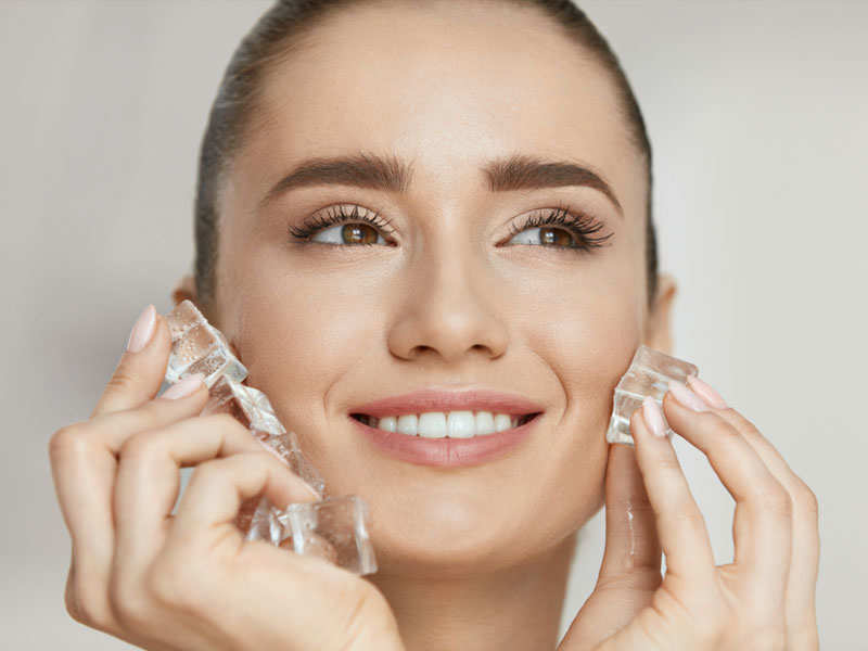 10 surprising beauty hacks using ice cubes | The Times of India