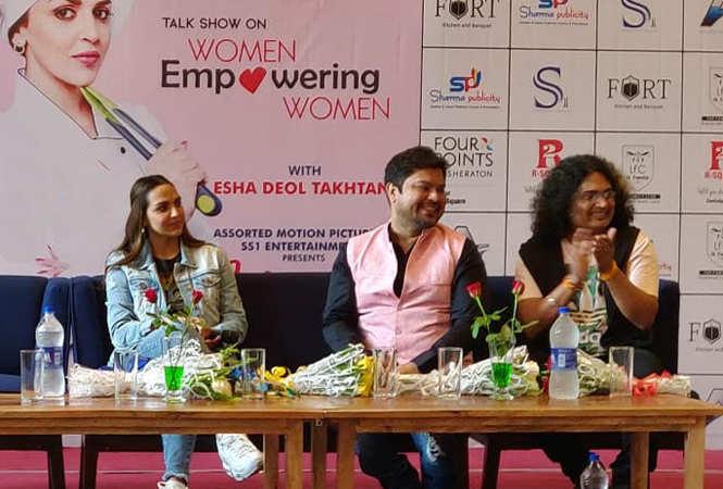 Esha Deol with film director Ram Kamal Mukherjee