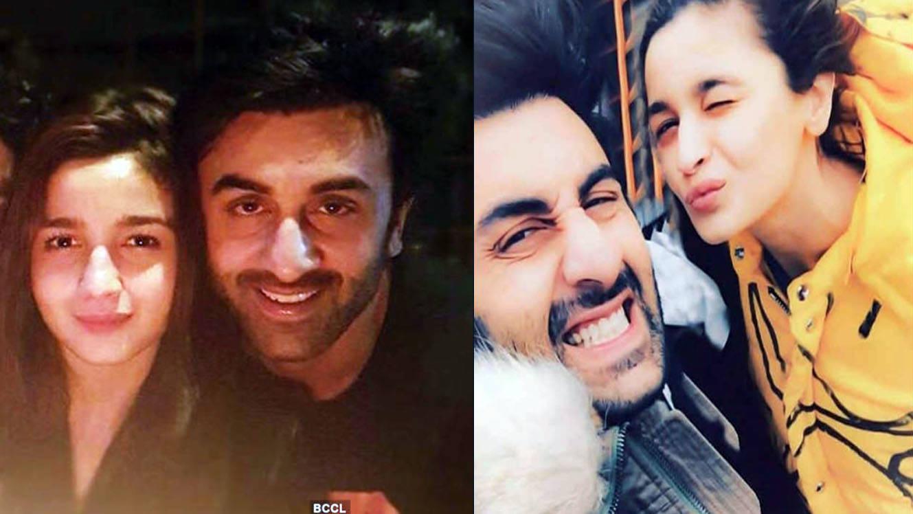 Love birds Alia Bhatt and Ranbir Kapoor fight the cold with warm smiles