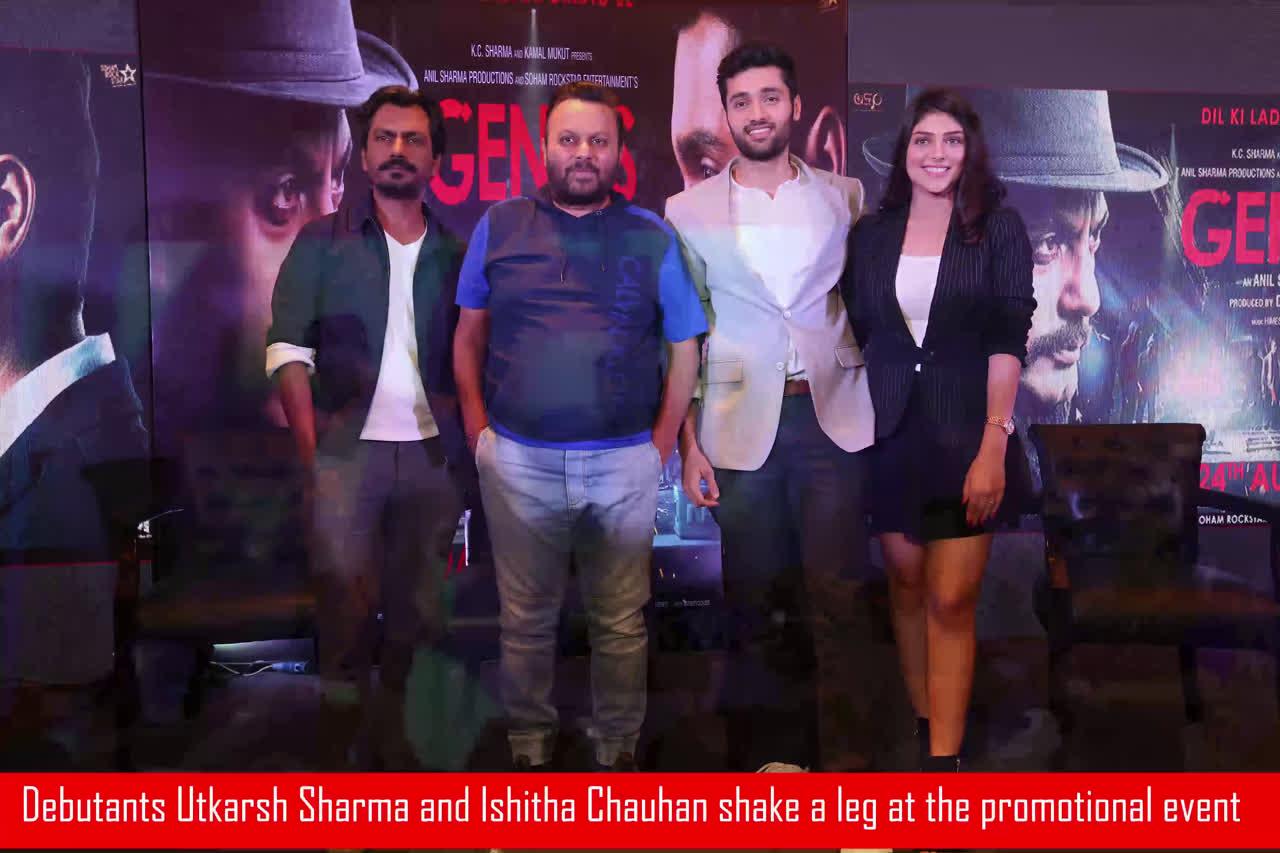 Nawazuddin Siddiqui, Utkarsh Sharma and Ishita Chauhan visit Delhi to promote 'Genius'