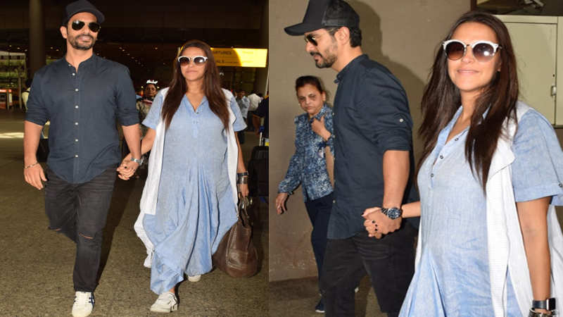 Neha Dhupia and Angad Bedi spotted post announcing pregnancy