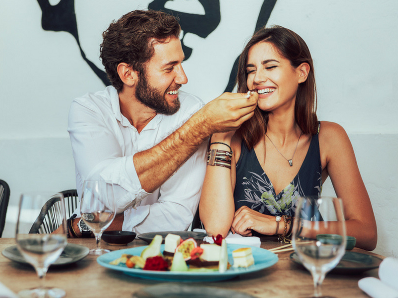 Let your partner have the last bite of your favourite food