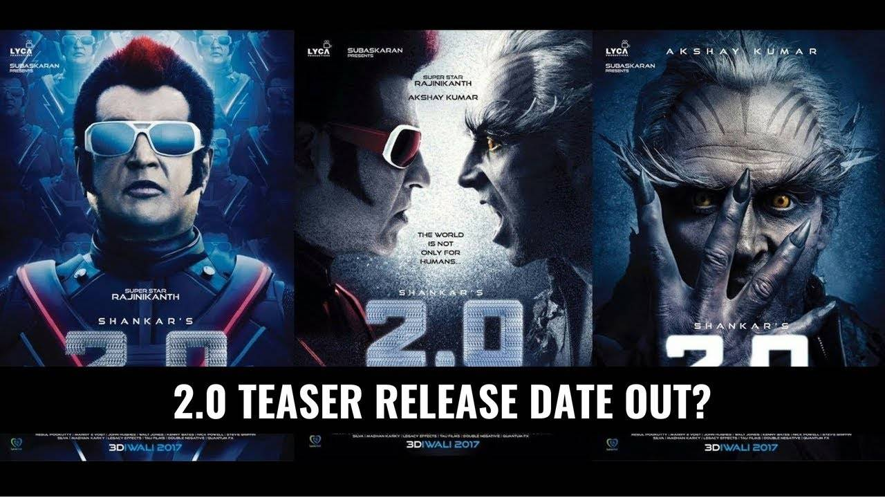 Rajinikanth and Akshay Kumar's 2.0 teaser to be out on 13th September?