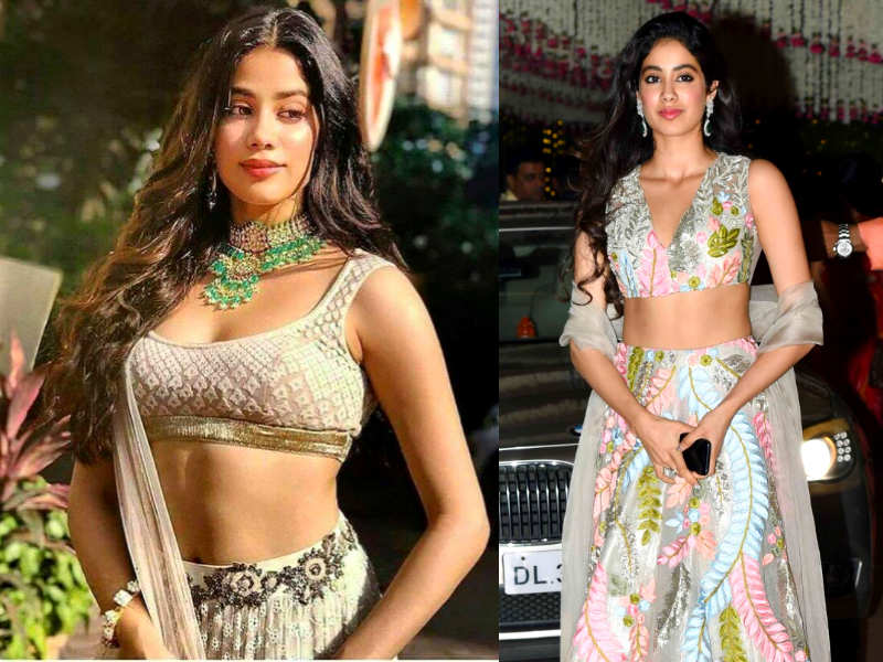 Five lehenga styles to steal from Janhvi Kapoor | The Times of India