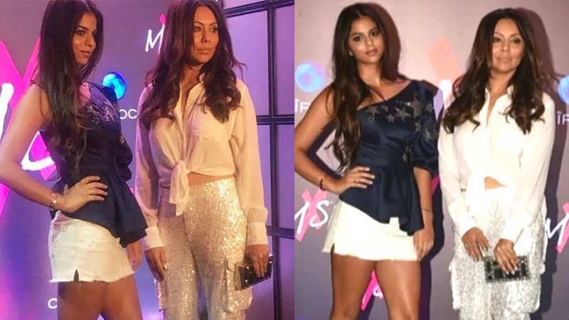 Shah Rukh Khan's gorgeous wife Gauri Khan and his daughter Suhana Khan sizzle at the red carpet