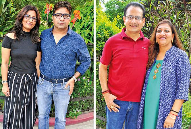 (L) Kriti and Rohit (R) Manoj and Kavita (BCCL/ AS Rathor)