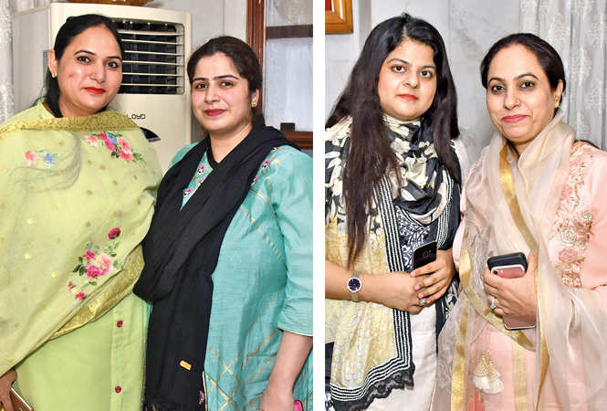 Abda Bazmi and Qulsum Faizi  (R) Arfa Shaikh and Shazia Razmi (BCCL/ Vishnu Jaiswal)
