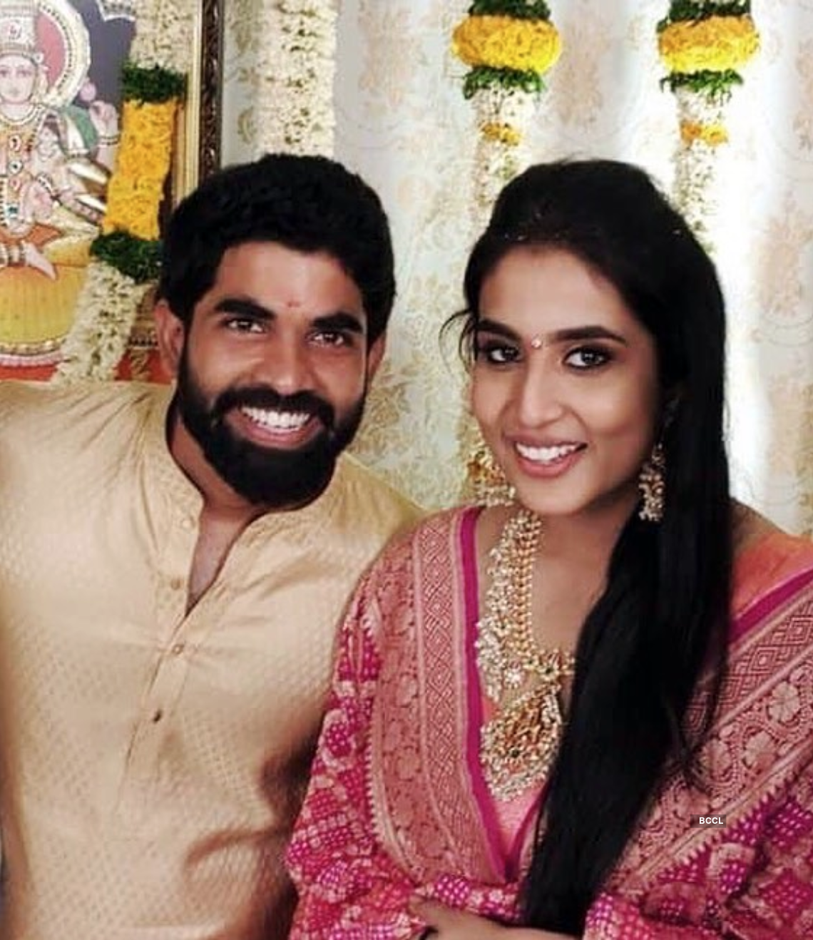 Engagement photos of SS Rajamouli's son Karthikeya & actor Jagapathi Babu's niece Pooja Prasad go viral...