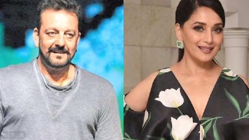 When Sanjay Dutt-Madhuri Dixit met again on 'Kalank' sets