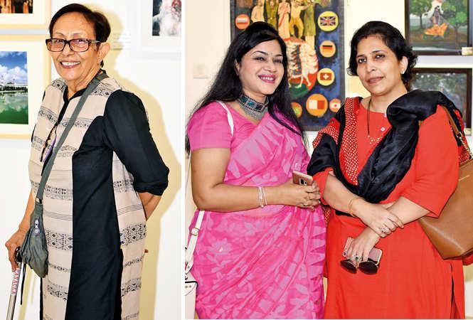 (L) Paromita Mukherjee (R) Vipul Varshney and Vanita Yadav (BCCL/ Farhan Ahmad Siddiqui)
