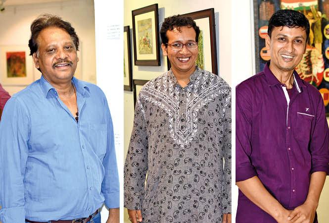(L) Premendra Srivastava (C) Rajarshi Adhikary (R) Rajib Sikdar (BCCL/ Farhan Ahmad Siddiqui)