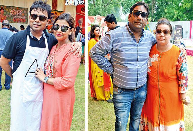 (L) Akash and Swapnil (R) Amit Jain and Tanu (BCCL/ IB Singh)