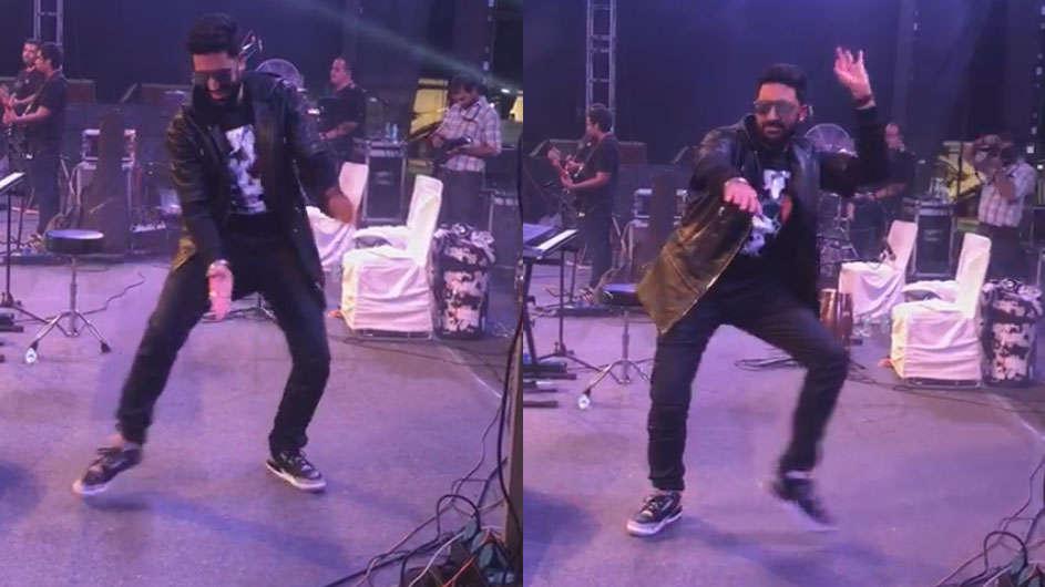 Abhishek Bachchan surprises fans with signature 'Kajra Re' step