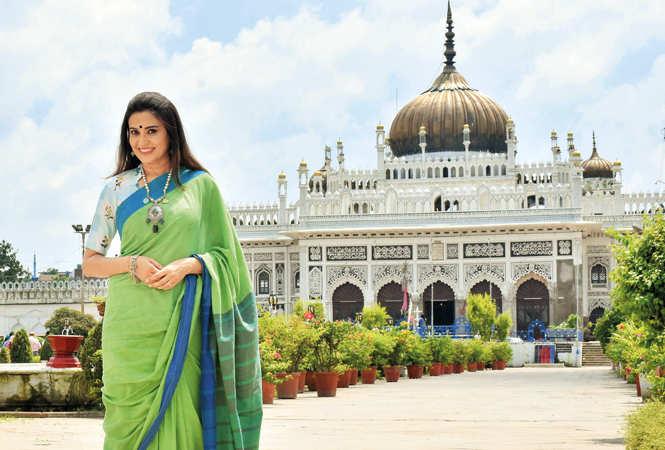 Smita Bansal at Chhota Imambara in Lucknow (BCCL/  Vishnu Jaiswal)
