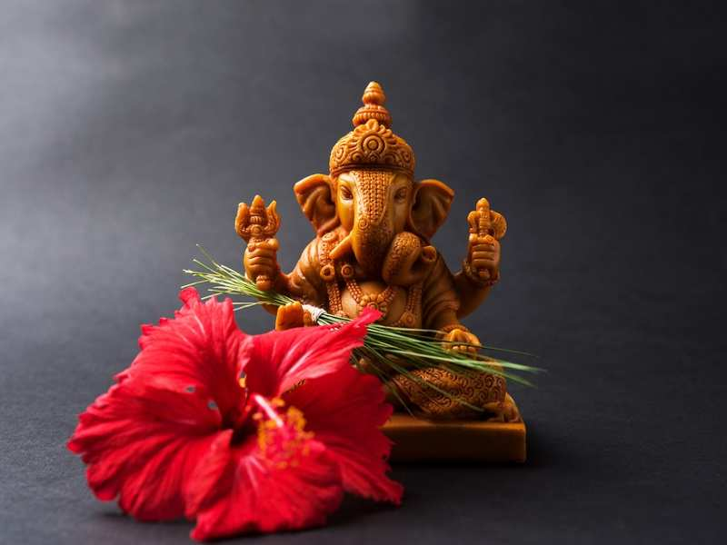 Image result for lord ganesha with jaswand ful