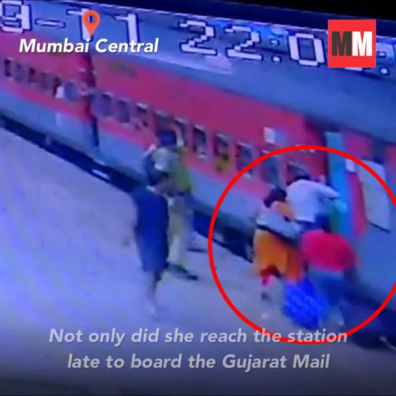 Watch: RPF jawan saves woman's life at Mumbai Central station