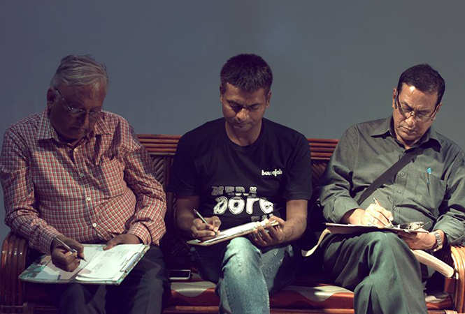 Rajesh Kumar, Abhishek Tiwari and Sangam Bahuguna during the screening of the plays  (BCCL)