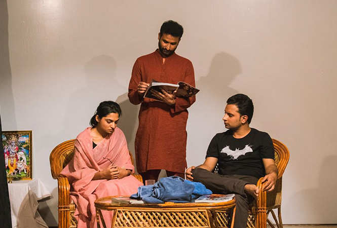 A scene from the play 30 Days in September (BCCL)