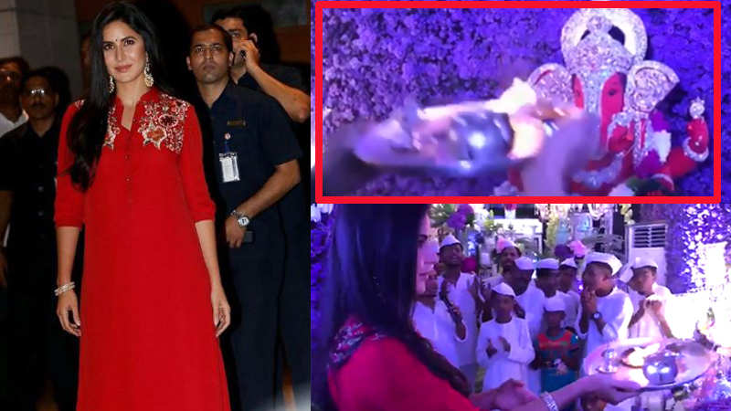 Video-Katrina Kaif performs 'aarti' in a wrong way, gets trolled