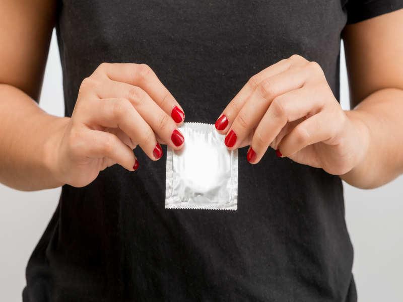 Active condom sex in the car