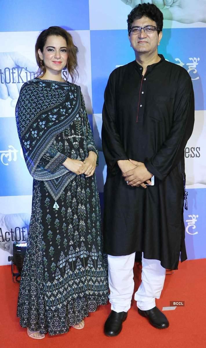 Popular Indian lyricist Prasoon Joshi calls Kangana Ranaut an evergreen talent