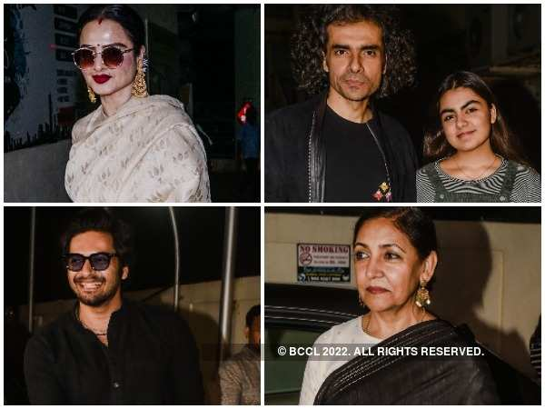 Clockwise: Rekha, Imtiaz Ali with daughter, Deepti Naval and Ali Fazal