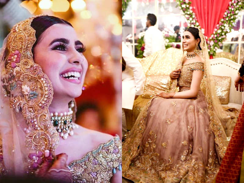 564cbce7aa This Pakistani bride's gorgeous wedding lehenga is trending in India | The  Times of India