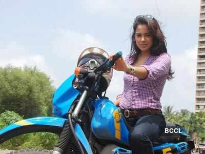 Sameera rides a bike