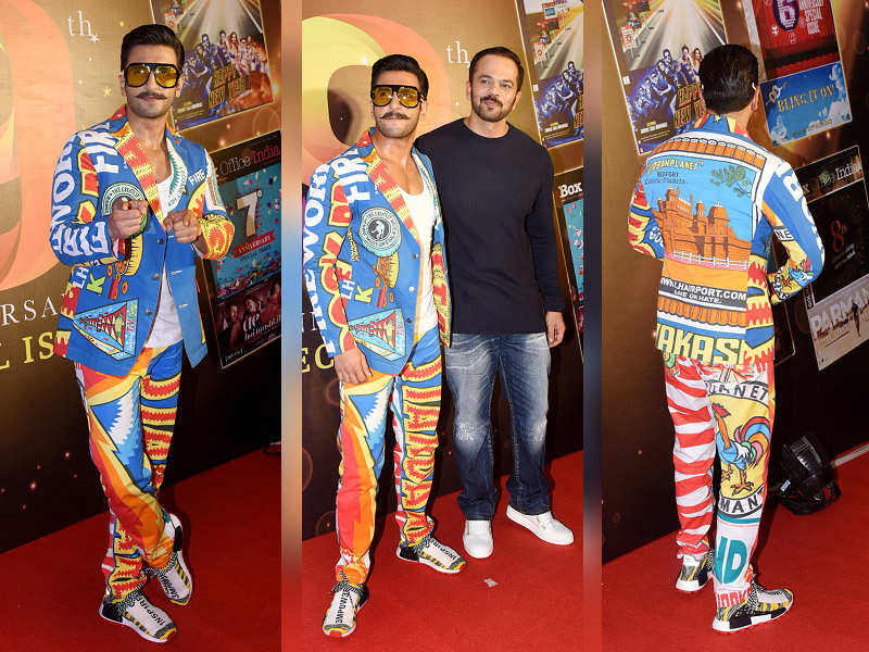Ranveer Singh at his eccentric best as he attends an event in the city