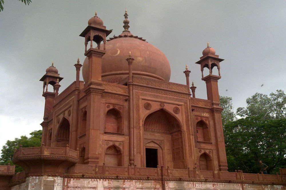 Image result for red taj mahal in agra