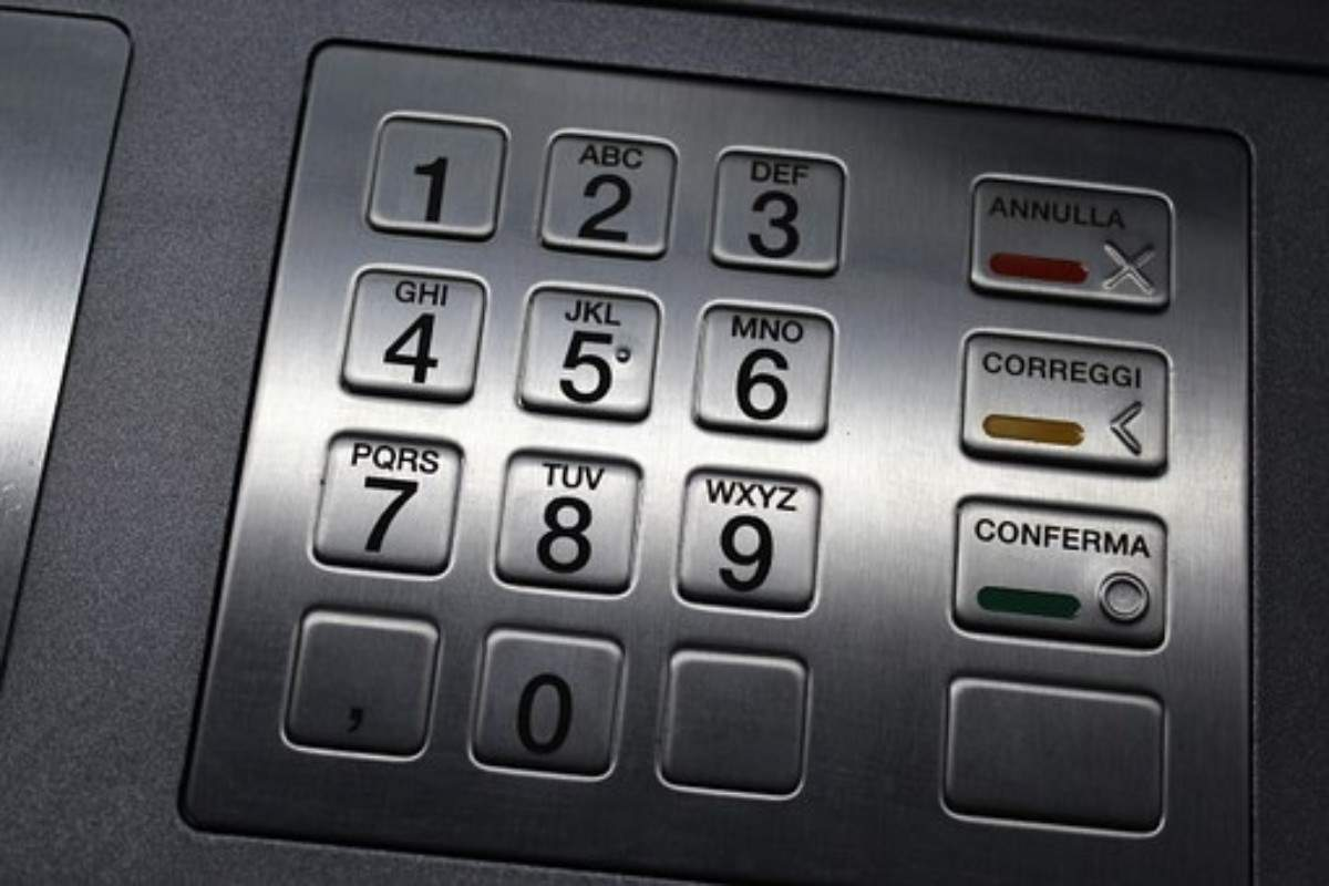 A camera installed somewhere above the keypad captures the ATM pin as the user enters it.
