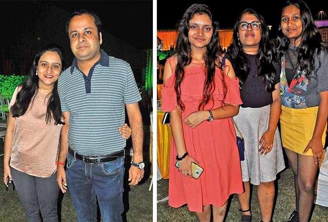 (L) Neha and Muddit (R) Sanya, Akriti and Ananya (BCCL/ AS Rathor)