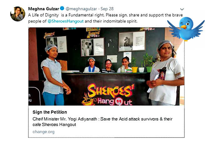Celebs tweeted in support of the cafe and the women running it (BCCL)