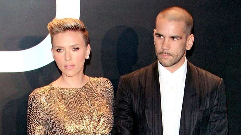 Scarlett Johansson spotted with ex-husband Romain Dauriac