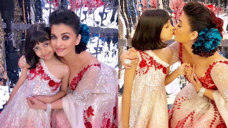 Aishwarya Rai Bachchan kissing Aaradhya is the cutest thing ever!