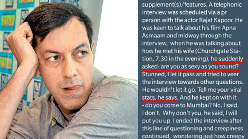 Rajat Kapoor asked for body measurements, claims journalist